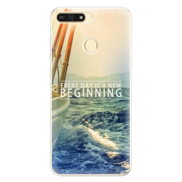 Silikonové pouzdro iSaprio - Beginning - Huawei Honor 7A