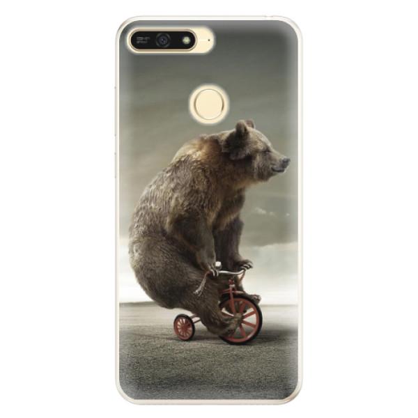 Silikonové pouzdro iSaprio - Bear 01 - Huawei Honor 7A