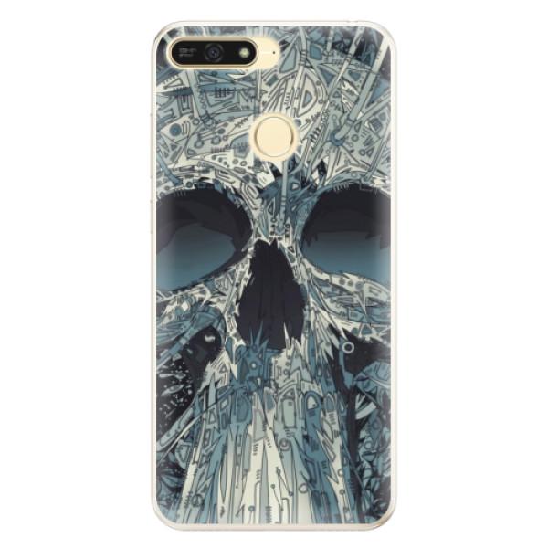Silikonové pouzdro iSaprio - Abstract Skull - Huawei Honor 7A