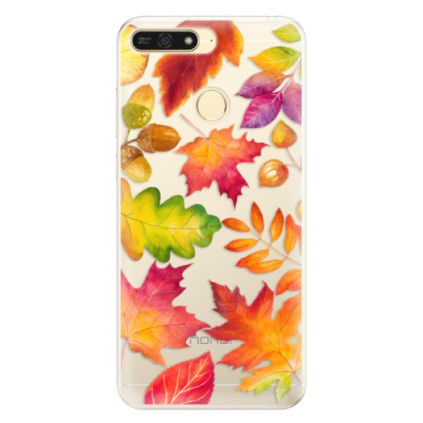 Silikonové pouzdro iSaprio - Autumn Leaves 01 - Huawei Honor 7A