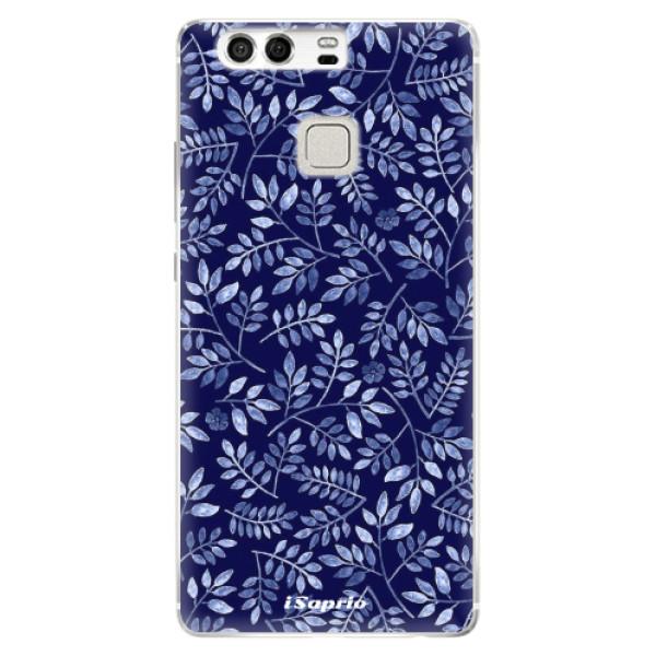 Silikonové pouzdro iSaprio - Blue Leaves 05 - Huawei P9
