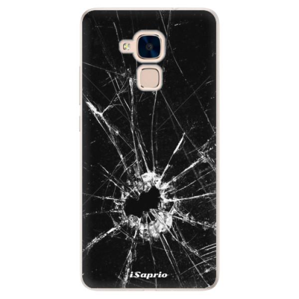 Silikonové pouzdro iSaprio - Broken Glass 10 - Huawei Honor 7 Lite