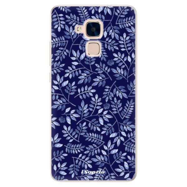 Silikonové pouzdro iSaprio - Blue Leaves 05 - Huawei Honor 7 Lite