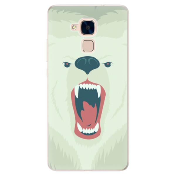 Silikonové pouzdro iSaprio - Angry Bear - Huawei Honor 7 Lite