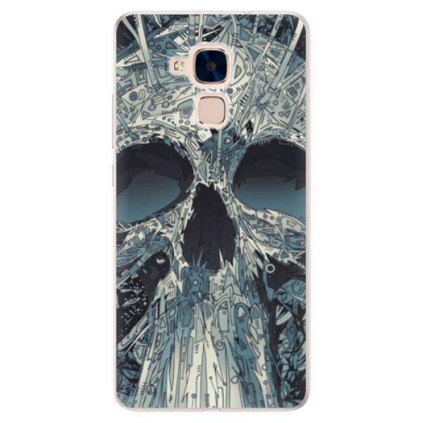 Silikonové pouzdro iSaprio - Abstract Skull - Huawei Honor 7 Lite