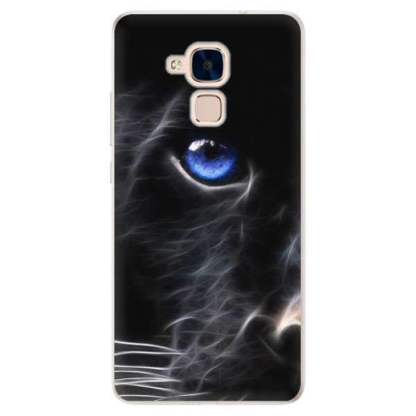 Silikonové pouzdro iSaprio - Black Puma - Huawei Honor 7 Lite