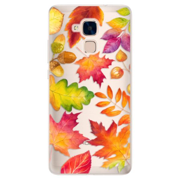 Silikonové pouzdro iSaprio - Autumn Leaves 01 - Huawei Honor 7 Lite