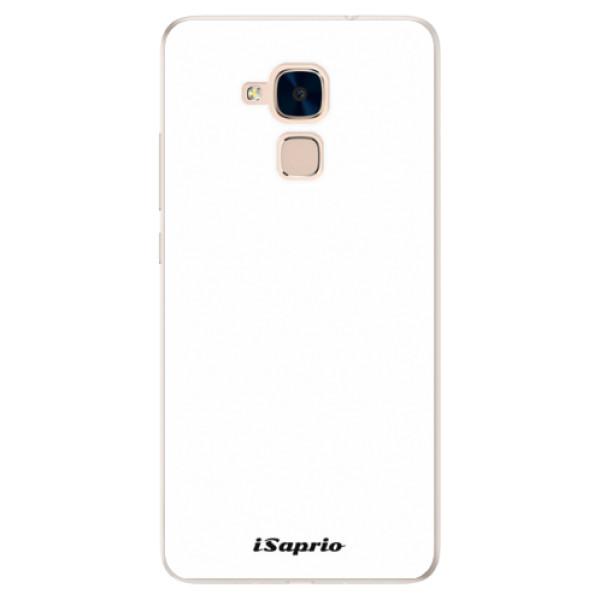 Silikonové pouzdro iSaprio - 4Pure - bílý - Huawei Honor 7 Lite