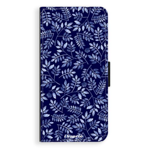 Flipové pouzdro iSaprio - Blue Leaves 05 - Samsung Galaxy J6