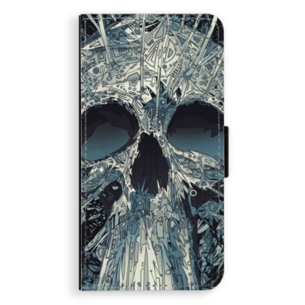 Flipové pouzdro iSaprio - Abstract Skull - iPhone XS Max