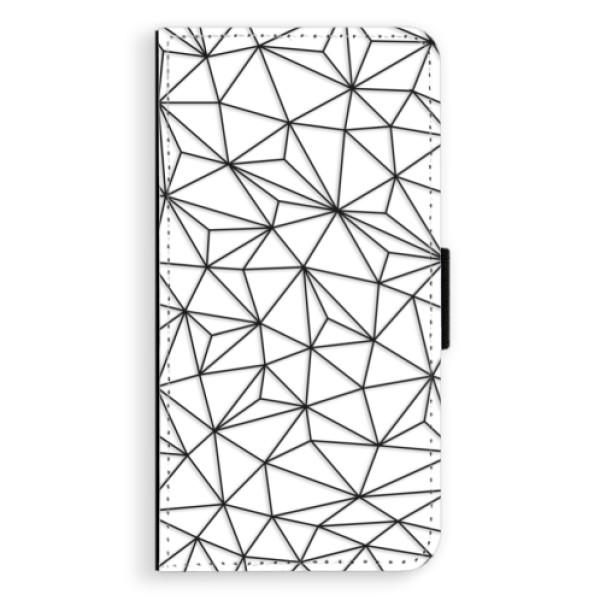 Flipové pouzdro iSaprio - Abstract Triangles 03 - black - iPhone XS Max