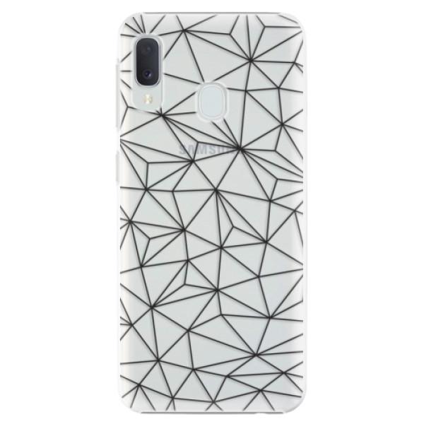 Plastové pouzdro iSaprio - Abstract Triangles 03 - black - Samsung Galaxy A20e