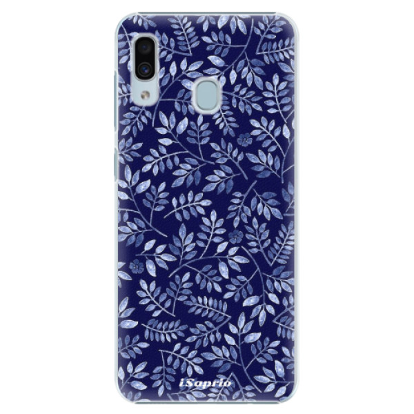 Plastové pouzdro iSaprio - Blue Leaves 05 - Samsung Galaxy A30
