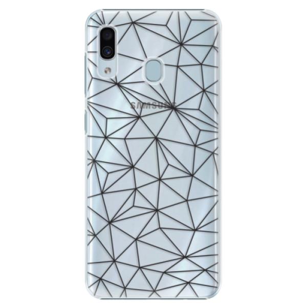 Plastové pouzdro iSaprio - Abstract Triangles 03 - black - Samsung Galaxy A30