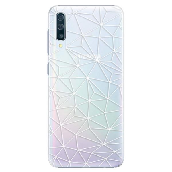 Plastové pouzdro iSaprio - Abstract Triangles 03 - white - Samsung Galaxy A50