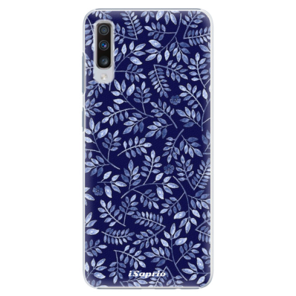 Plastové pouzdro iSaprio - Blue Leaves 05 - Samsung Galaxy A70