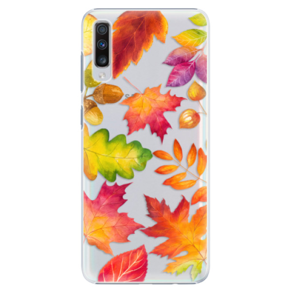 Plastové pouzdro iSaprio - Autumn Leaves 01 - Samsung Galaxy A70