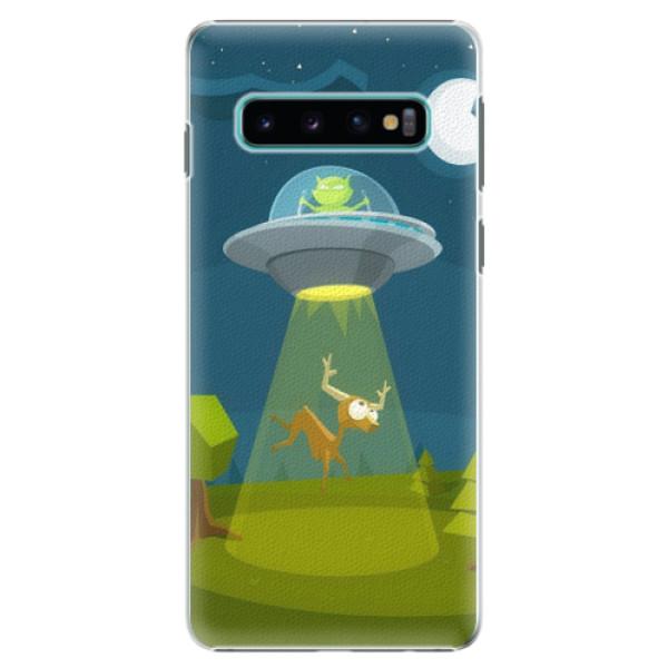 Plastové pouzdro iSaprio - Alien 01 - Samsung Galaxy S10