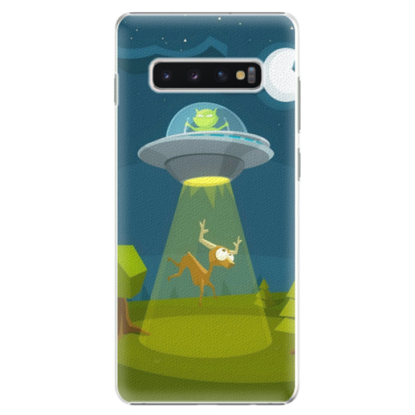 Plastové pouzdro iSaprio - Alien 01 - Samsung Galaxy S10+