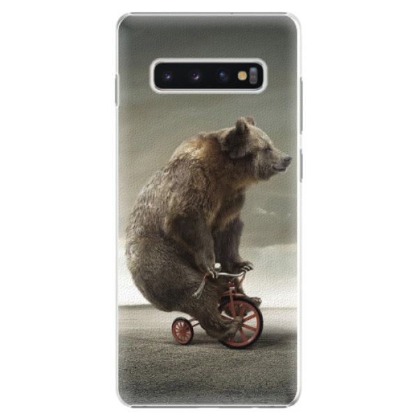 Plastové pouzdro iSaprio - Bear 01 - Samsung Galaxy S10+