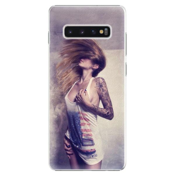 Plastové pouzdro iSaprio - Girl 01 - Samsung Galaxy S10+