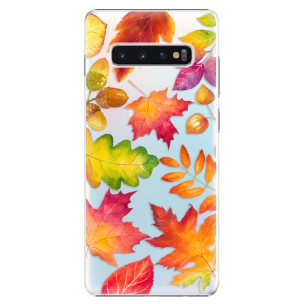 Plastové pouzdro iSaprio - Autumn Leaves 01 - Samsung Galaxy S10+