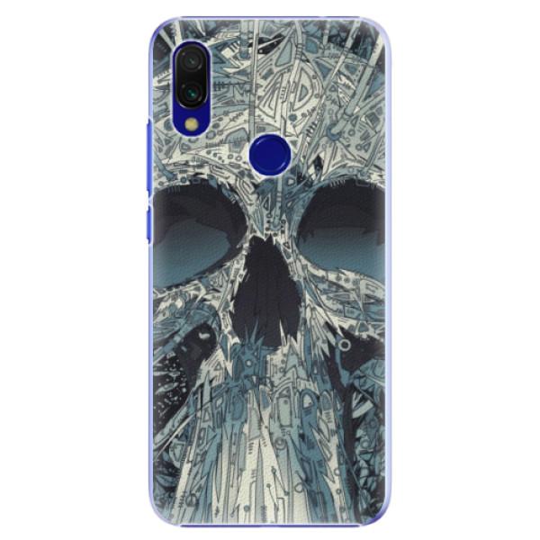 Plastové pouzdro iSaprio - Abstract Skull - Xiaomi Redmi 7