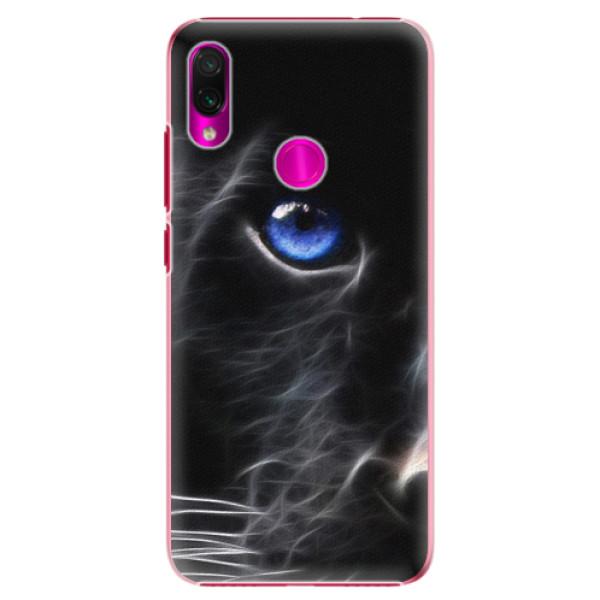 Plastové pouzdro iSaprio - Black Puma - Xiaomi Redmi Note 7