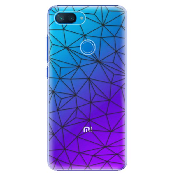 Plastové pouzdro iSaprio - Abstract Triangles 03 - black - Xiaomi Mi 8 Lite