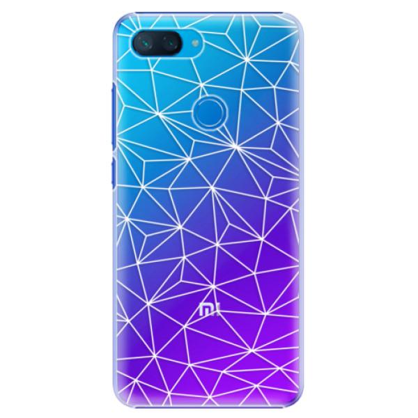 Plastové pouzdro iSaprio - Abstract Triangles 03 - white - Xiaomi Mi 8 Lite