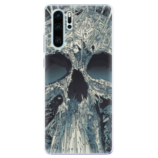 Plastové pouzdro iSaprio - Abstract Skull - Huawei P30 Pro
