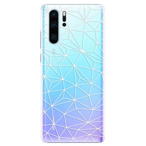 Plastové pouzdro iSaprio - Abstract Triangles 03 - white - Huawei P30 Pro