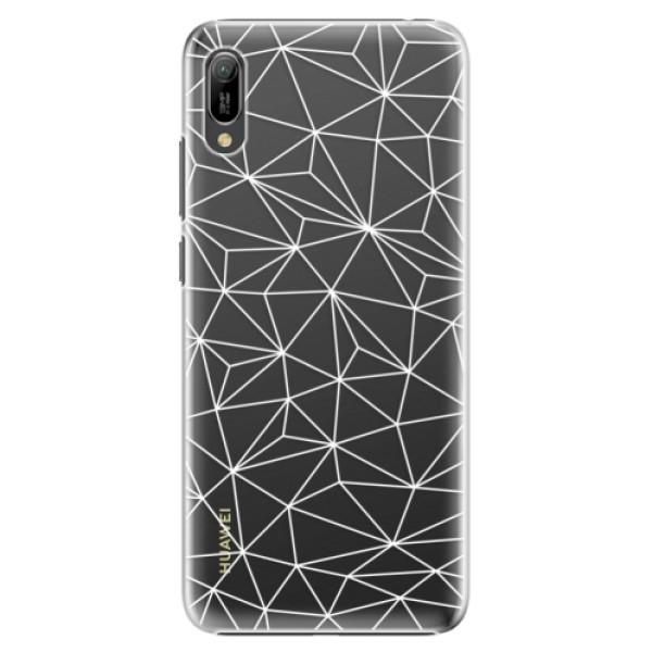 Plastové pouzdro iSaprio - Abstract Triangles 03 - white - Huawei Y6 2019