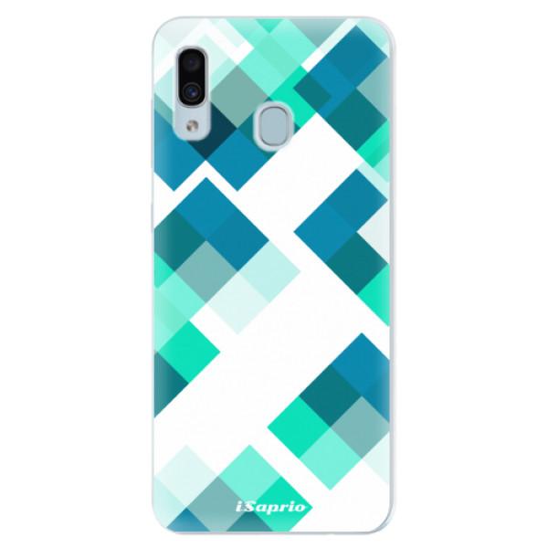 Silikonové pouzdro iSaprio - Abstract Squares 11 - Samsung Galaxy A30