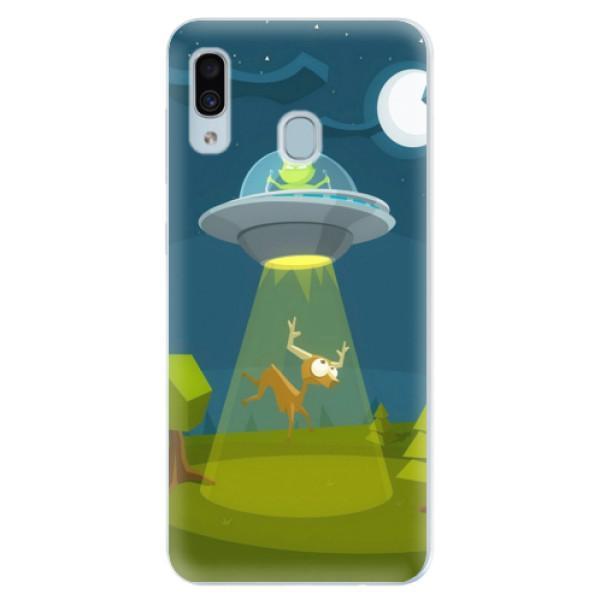 Silikonové pouzdro iSaprio - Alien 01 - Samsung Galaxy A30