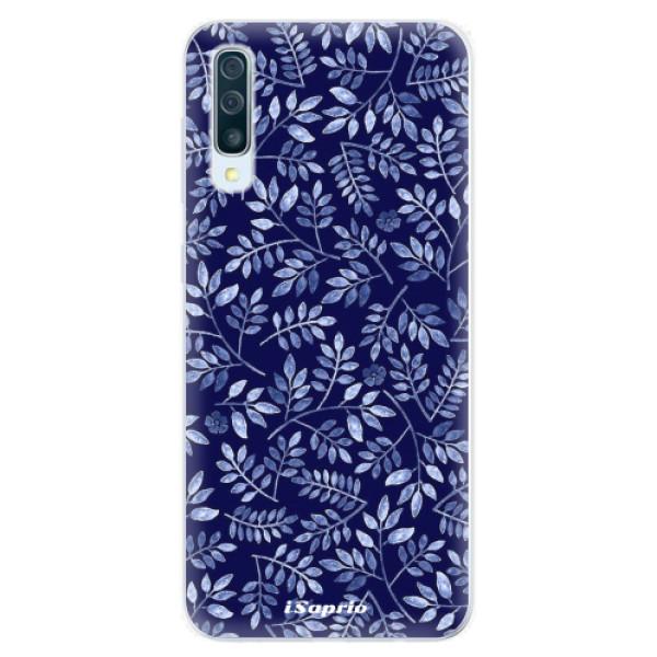 Silikonové pouzdro iSaprio - Blue Leaves 05 - Samsung Galaxy A50