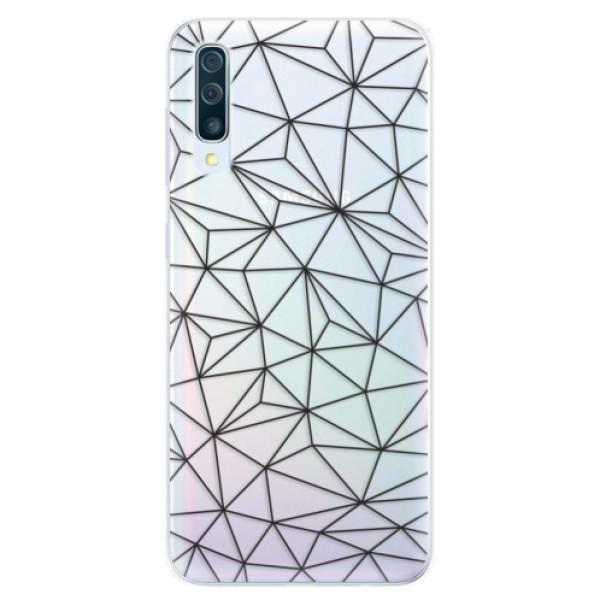 Silikonové pouzdro iSaprio - Abstract Triangles 03 - black - Samsung Galaxy A50