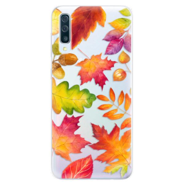 Silikonové pouzdro iSaprio - Autumn Leaves 01 - Samsung Galaxy A50