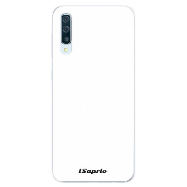 Silikonové pouzdro iSaprio - 4Pure - bílý - Samsung Galaxy A50
