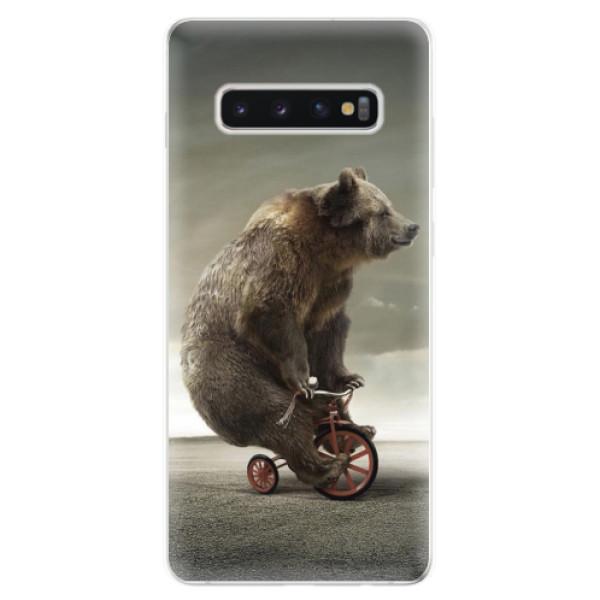Odolné silikonové pouzdro iSaprio - Bear 01 - Samsung Galaxy S10+