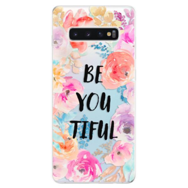 Odolné silikonové pouzdro iSaprio - BeYouTiful - Samsung Galaxy S10+