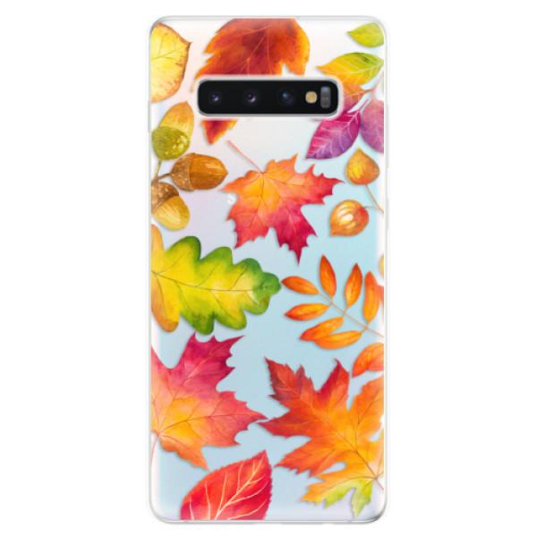 Odolné silikonové pouzdro iSaprio - Autumn Leaves 01 - Samsung Galaxy S10+