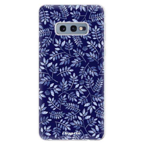 Odolné silikonové pouzdro iSaprio - Blue Leaves 05 - Samsung Galaxy S10e
