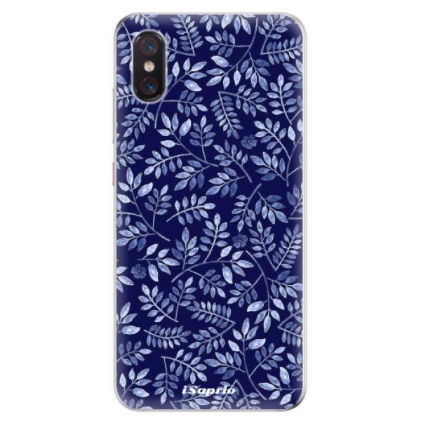 Odolné silikonové pouzdro iSaprio - Blue Leaves 05 - Xiaomi Mi 8 Pro