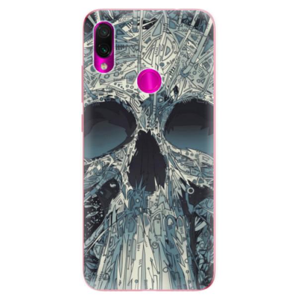Odolné silikonové pouzdro iSaprio - Abstract Skull - Xiaomi Redmi Note 7