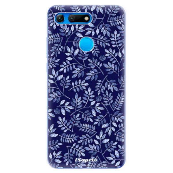 Odolné silikonové pouzdro iSaprio - Blue Leaves 05 - Huawei Honor View 20