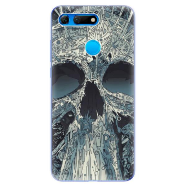 Odolné silikonové pouzdro iSaprio - Abstract Skull - Huawei Honor View 20