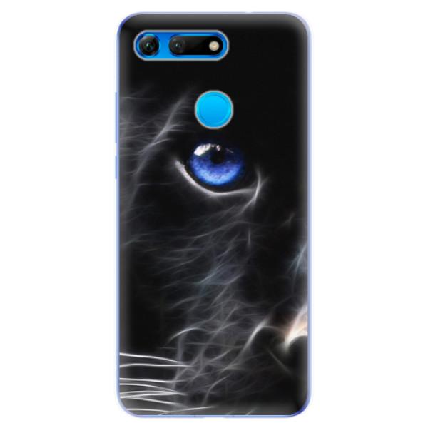 Odolné silikonové pouzdro iSaprio - Black Puma - Huawei Honor View 20