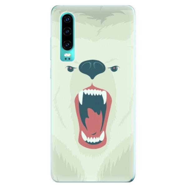 Odolné silikonové pouzdro iSaprio - Angry Bear - Huawei P30