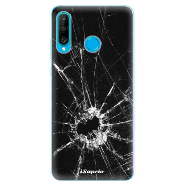 Odolné silikonové pouzdro iSaprio - Broken Glass 10 - Huawei P30 Lite